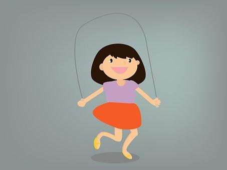 skakanka dziewczynka